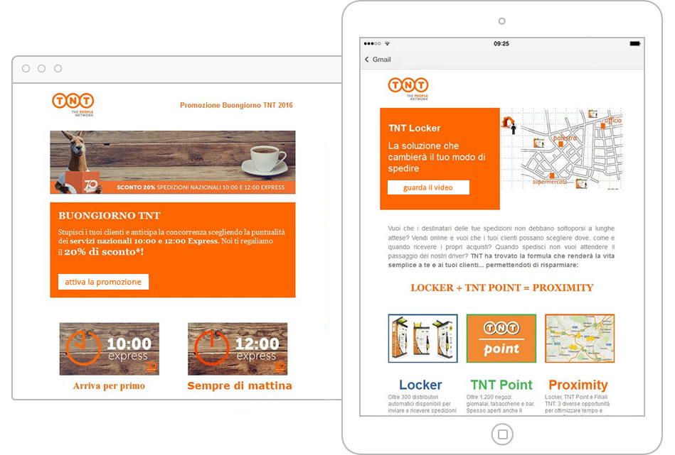 Email marketing con Infomail – TNT